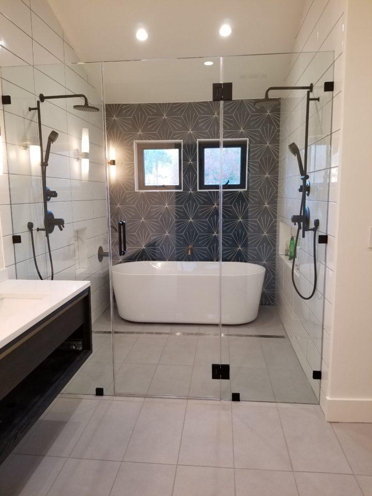 Frameless Glass Tub Shower Enclosure Lafayette Glass
